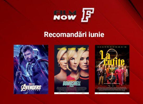"""Film Now va difuza în luna iunie blockbusterul tuturor timpurilor """"Avengers: Endgame"""" și în premieră TV națională """"Knives out"""", """"Bombshell"""" și """"21 Bridges"""""""
