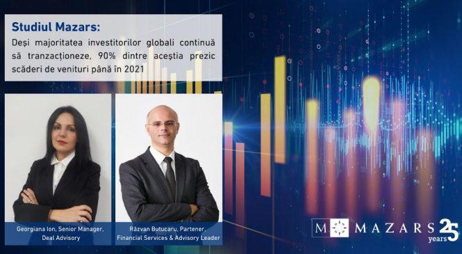Studiul Mazars: Deşi majoritatea investitorilor globali continuă să tranzacţioneze, 90% dintre aceştia prezic scăderi de venituri până în 2021