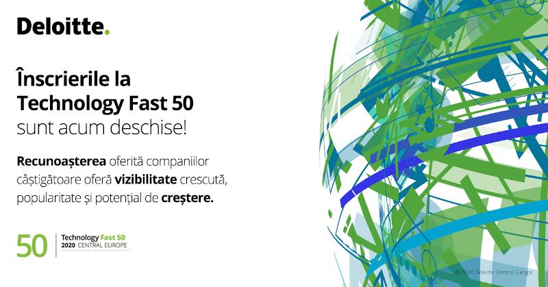 inscrieri Deloitte Technology Fast 50 Europa Centrala 2020