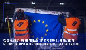 UE finanțează transporturile de materiale medicale