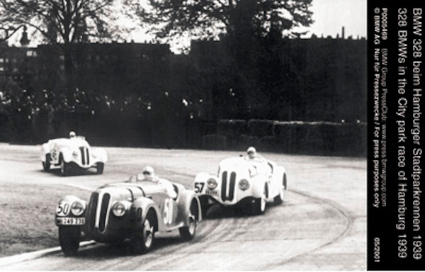 328 BMWs in the City park race Hamburg 1939