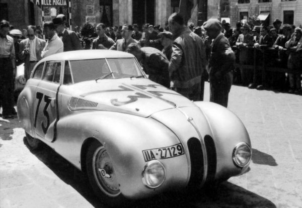 "BMW 328 ""Mille Miglia"" Roadster at the Grand Premio Brescia delle Mille Miglia , April 28, 1940"