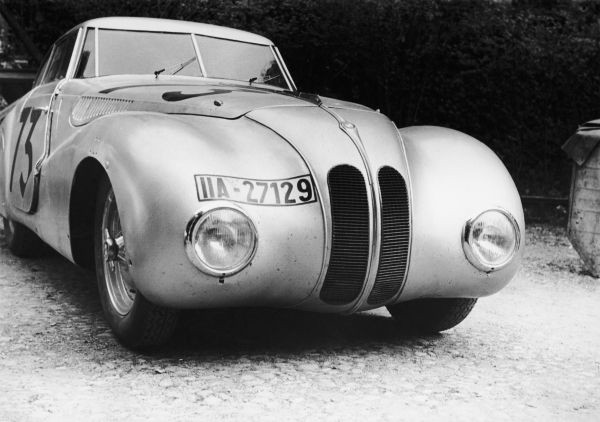 BMW 328 Mille Miglia Kamm Racing Saloon at the 1st Italian Mille Miglia Grand Prix in Brescia, April 28, 1940