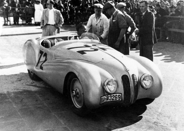 "BMW 328 ""Mille Miglia"" Roadster at the Grand Premio Brescia delle Mille Miglia, April 28, 1940"