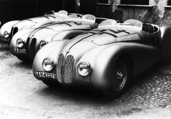 "BMW 328 ""Mille Miglia"" Roadsters at the 1st Italian Mille Miglia Grand Prix in Brescia, April 28, 1940"