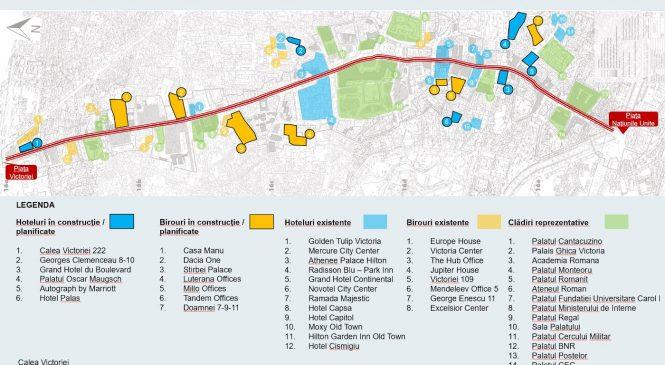 Cushman & Wakefield Echinox: Dezvoltatorii au planuri pentru birouri de 100.000 mp şi hoteluri cu 700 de camere în zona Calea Victoriei din Bucureşti. Investiţiile pot depăşi 300 mil. euro