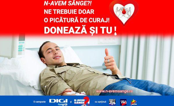 """Grupul Digi și Asociația HEM lansează un apel pentru donare de sânge """"Fă-ți curaj! Donează și tu"""""""