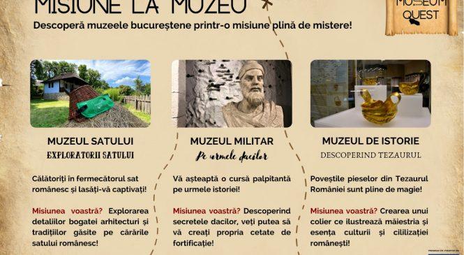 Museum Quest, un nou proiect cultural marca Trapped Room Escape prezintă un treasure hunt interactiv în 3 muzee din București