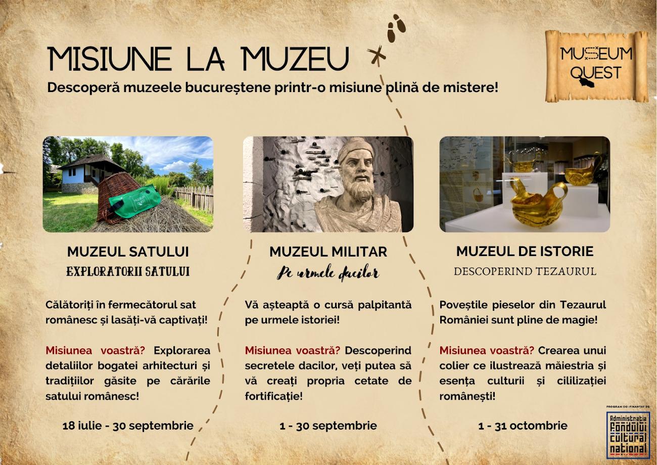 Museum Quest Proiect Cultural Treasure Hunt în Muzee București