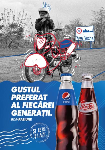 Pepsi Vintage Summer 2020 poster Motorbike Motorbike