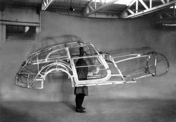 Tubular space frame for BMW 328 'Mille Miglia' Kamm racing saloon