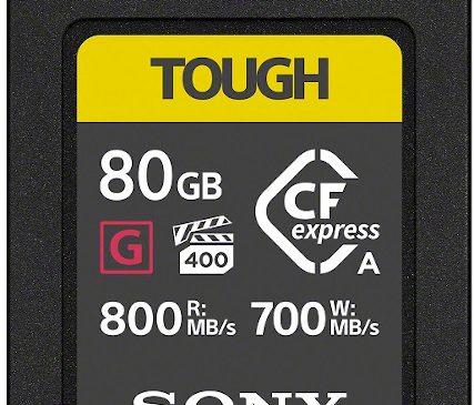 Sony lansează primul card de memorie CFexpress Type A cu performanță de mare viteză și durabilitate ridicată