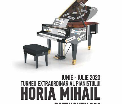 """Horia Mihail – Turneul """"Pianul Călător"""", ultimele două concerte în aer liber, pe 3 şi 5 iulie la Bucureşti şi Constanţa"""