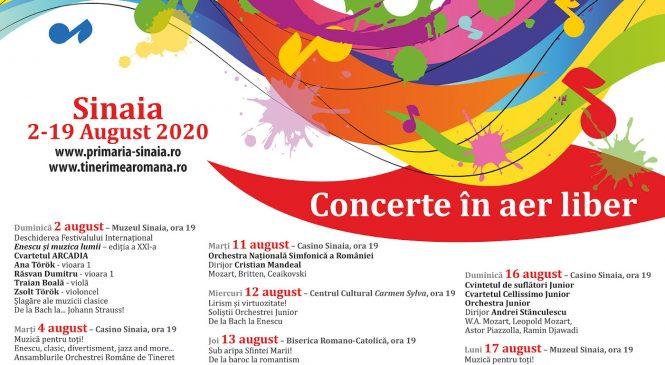 """Prima dată exclusiv în aer liber, Festivalul Internațional """"Enescu și muzica lumii"""" revine între 2 şi 19 august la Sinaia"""