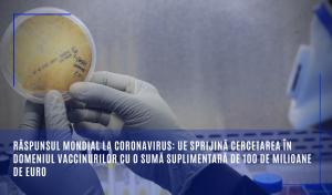UE sprijin vaccin 100 de milioane de euro