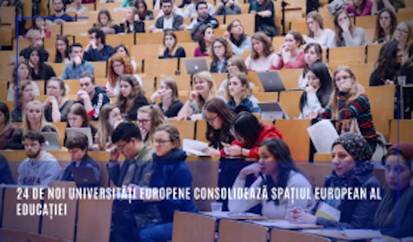 24 de noi universități europene consolidează Spațiul european al educației