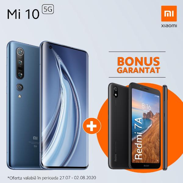 Xiaomi Mi10 + bonus Redmi 7A la Orange, in perioada 27 iulie – 2 august