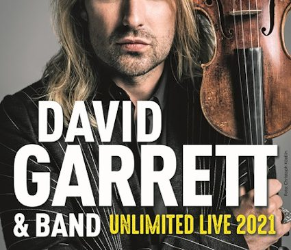 "DAVID GARRETT – Turneul mondial ""Unlimited Live"" a fost reprogramat pentru anul 2021"