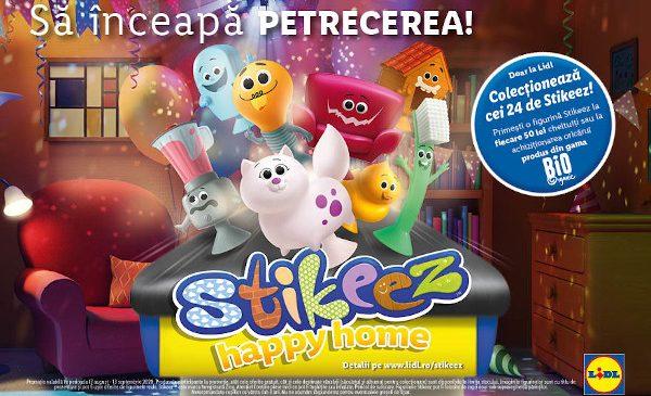 Lidl lansează noua colecție Stikeez Happy Home, împreună cu primul filtru pentru Instagram sub forma unui joc animat