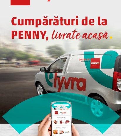Produsele PENNY livrate la domiciliu pentru prima dată prin platforma Lyvra