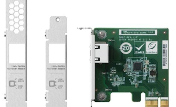 QNAP a lansat o placă de rețea 2,5 GbE PCIe Single-port pentru NAS și PC