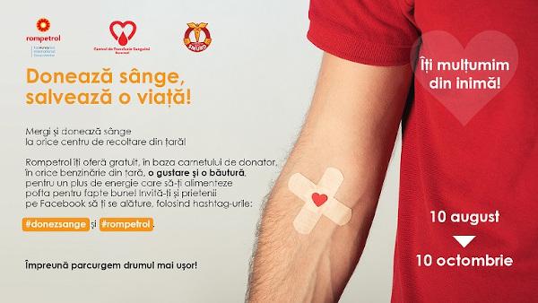 Rompetrol campanie donare sange