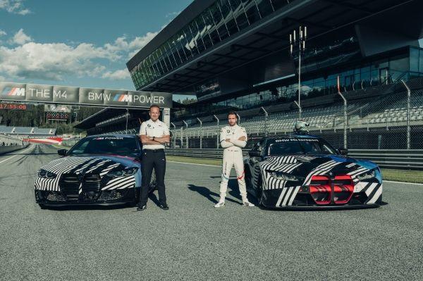Spielberg (AUT), 19th August 2020. BMW M. Red Bull Ring. BMW M Grand Prix of Styria. Markus Flasch, CEO of BMW M GmbH, BMW works driver Philipp Eng (AUT), BMW M4 (2021), BMW M4 GT3