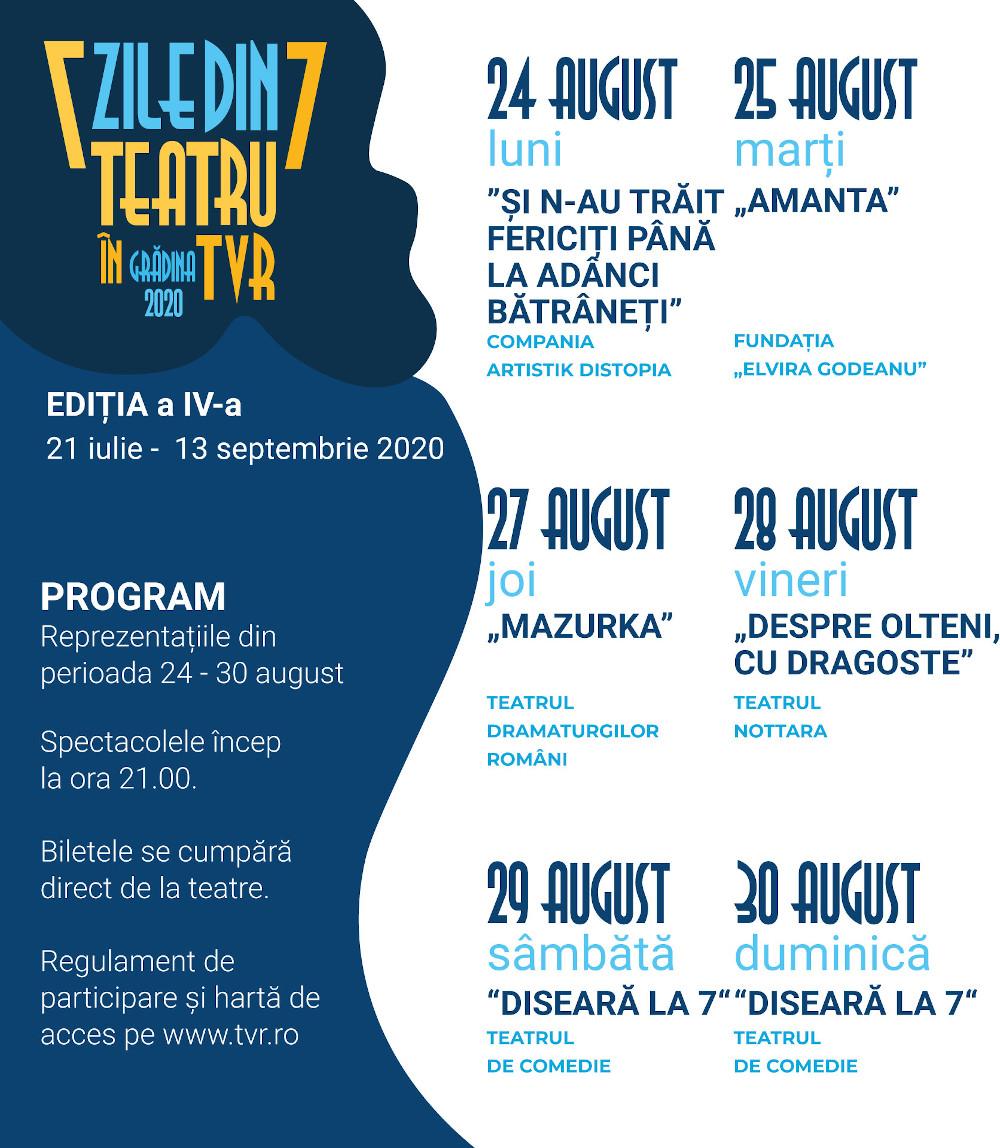 Teatru- in TVR_Program 24-30 aug