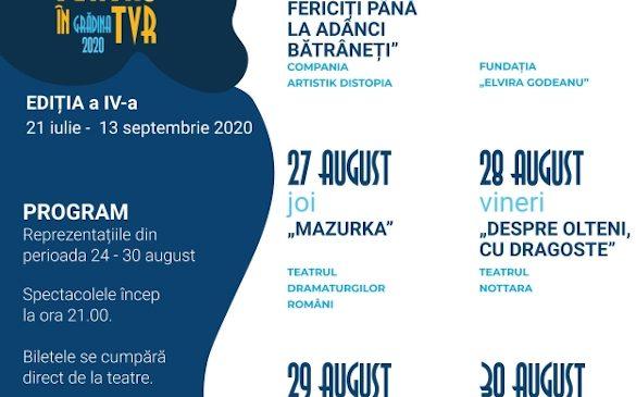 Cea de-a patra ediție a programului Teatru în TVR continuă. Sâmbătă și duminică – seri de teatru TV pe TVR 3