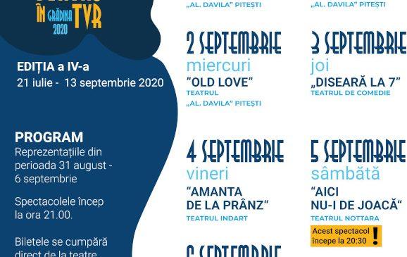 Spectacole de teatru, 7 zile din 7, în grădina TVR