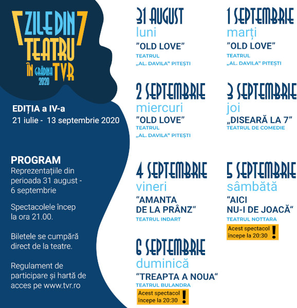 Teatru in TVR_Program31 aug-6 sept