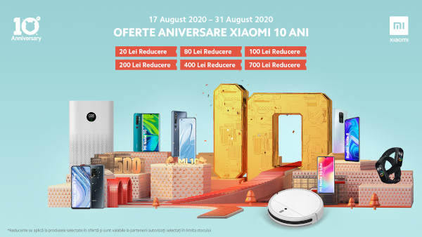 Xiaomi aniversează 10 ani și aduce oferte la telefoane și la produsele din gama ecosystem