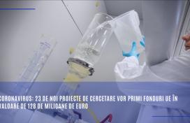 Coronavirus: 23 de noi proiecte de cercetare vor primi fonduri UE în valoare de 128 de milioane de euro