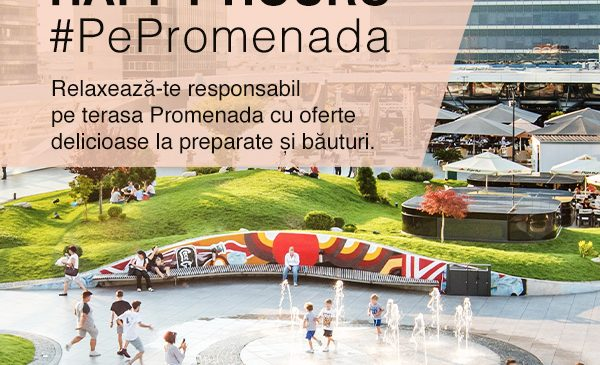 Promenada Mall lansează Happy Hours și îi răsplătește pe clienți cu oferte exclusive în food court și terasă