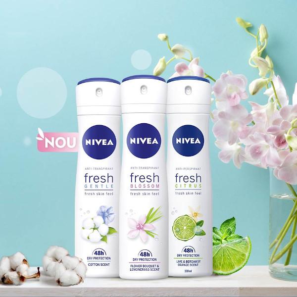 antiperspirante NIVEA Fresh gama