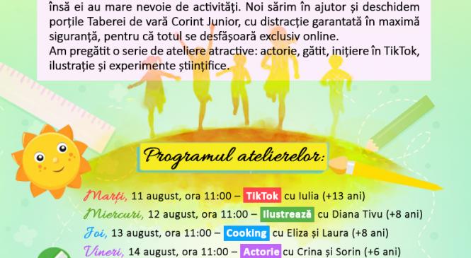 Tabăra de vară Corint Junior (exclusiv online) – participare gratuită