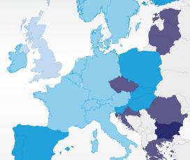 Europenii în automobile: pentru remunerația medie pe zi românul parcurge 628 km, iar cei din Monaco aproape 7 mii
