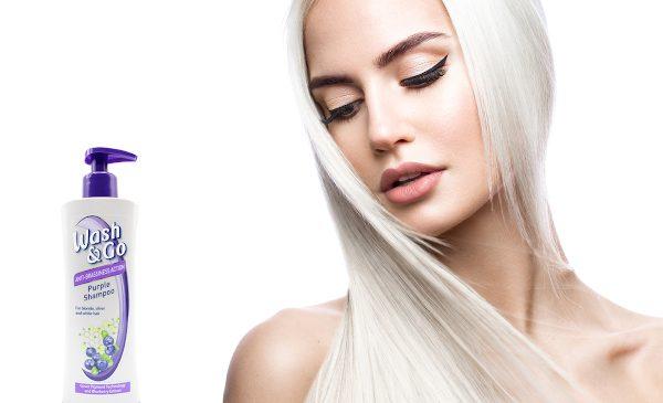 Adio reflexe de galben și portocaliu în păr cu noul șampon neutralizator  Wash&Go Purple
