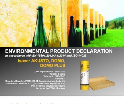 Saint-Gobain obține Declarațiile de Mediu pentru produsele din vată minerală ISOVER, fabricate la Ploiești