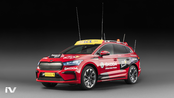 SKODA ENYAQ iV as the lead vehicle in TdF