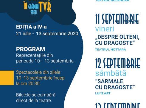 """""""TEATRU ÎN TVR""""- stagiunea patru, săptămâna opt"""