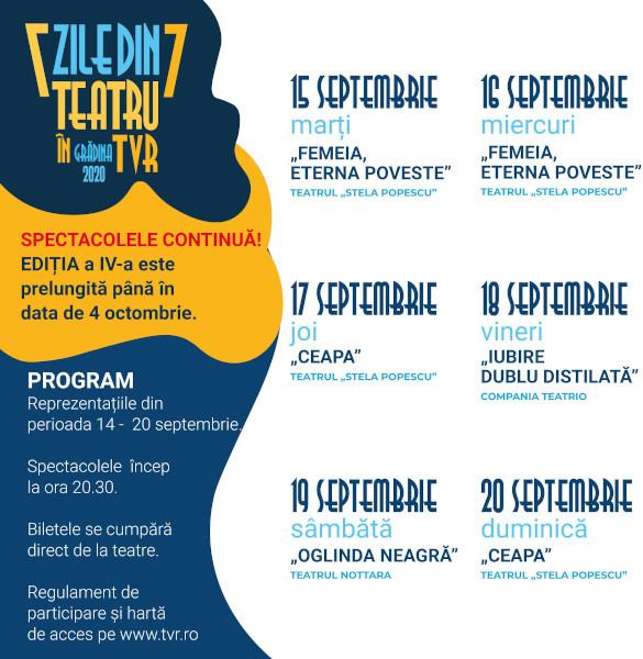 Teatru in TVR_program 15-20 sept
