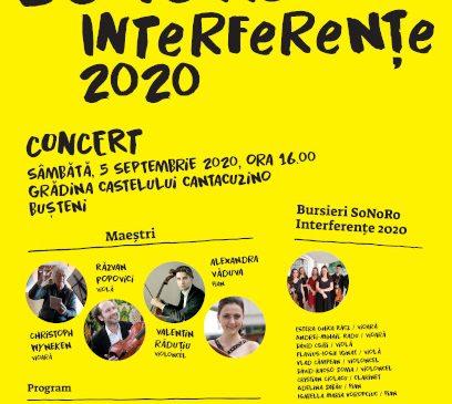 Concert al bursierilor SoNoRo Interferențe 2020 la Castelul Cantacuzino din Bușteni
