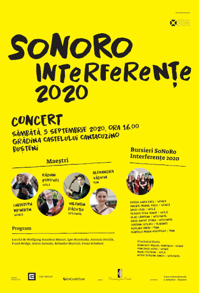 afis Interferente Concert Cantacuzino Busteni