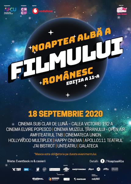 afis Noaptea Alba a Filmului Romanesc Bucuresti 2020