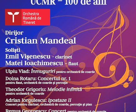 Orchestra Română de Tineret – turneu național aniversar Uniunea Compozitorilor și Muzicologilor din România 100 de ani