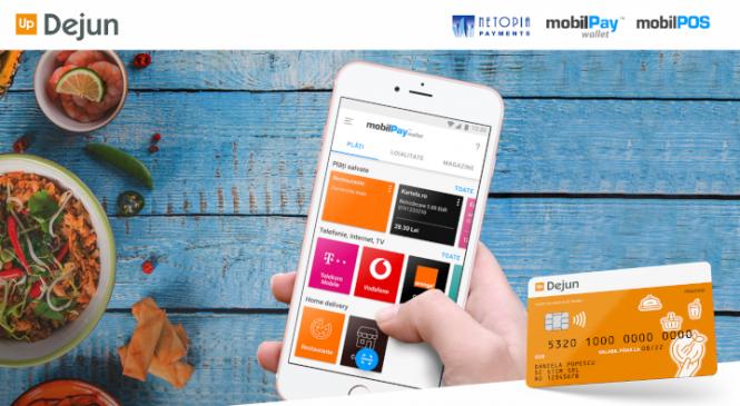 Up România, în parteneriat cu NETOPIA Payments, oferă posibilitatea de plată online cu cardurile de masă în platforma mobilPay Delivery
