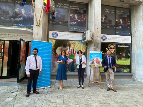 Lansare Telverde - Andreeas Novacovici, Georgiana Pascu, Madalina Turza, Pieter Bult - ©UNICEF