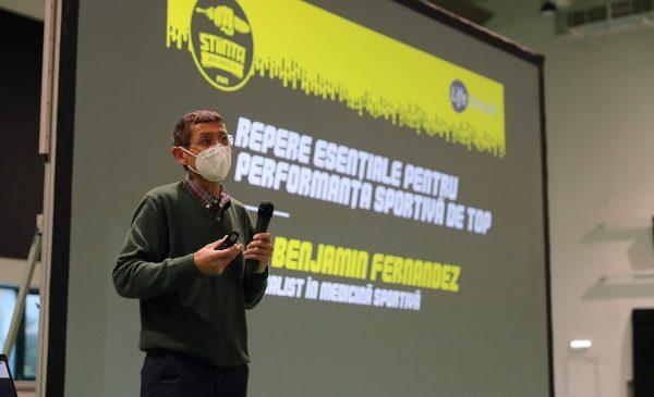 Sportivii CSU Știința București au discutat, în premieră pentru România, cu Dr. Benjamin Fernandez, unul dintre cei mai recunoscuți specialiști în medicina sportivă la nivel global, la invitația CSU Știința București și Mastercard