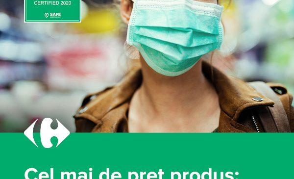 Magazinele Carrefour, la standarde internaționale de siguranță împotriva COVID-19